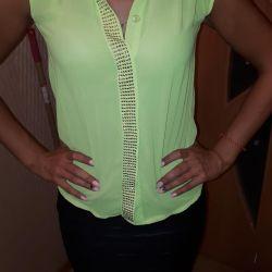 Ανοιχτό πράσινο καλοκαιρινό αμάνικο πουκάμισο
