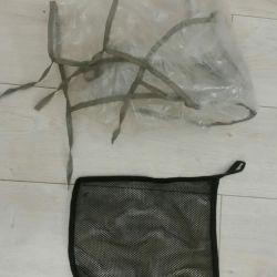 Дождевик и мешочек для коляски трость