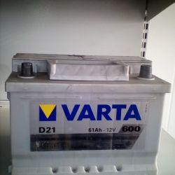 Аккумулятор VARTA 61AH 600A