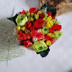 Miniature roses in a box