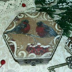 Jewelry box vintage decoupage gift decor