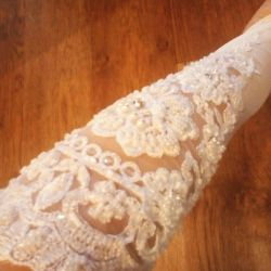 Wedding Gloves up to the elbow