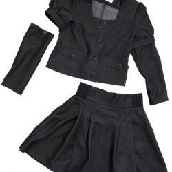 134 koyu gri etiketli yeni okul kıyafeti