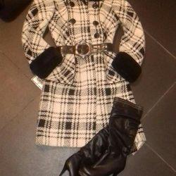 Пальто 100%шерсть(48)