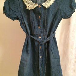 Платье из лeгкой джинсы