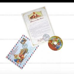 Letter from Santa Claus with a disc (cartoons)