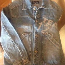 158cm kot ceket, şık metal