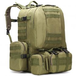 Backpack tourist army green 50 l.