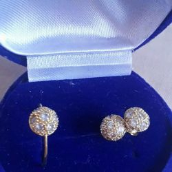 Cercei și inel de aur