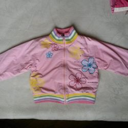 Pink jacket for a girl.