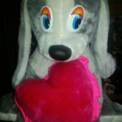 Soft toy DOG WITH THE HEART