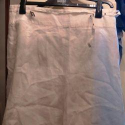 Skirt, flax, new.50-52Finland, Stockmann
