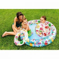 Φουσκωτή πισίνα + μπάλα με κύκλο