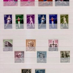 Spain - complete series of stamps of various subjects