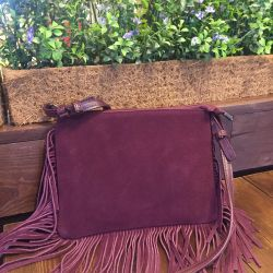 New suede (genuine leather) bag