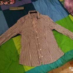Ριγέ πουκάμισο xl