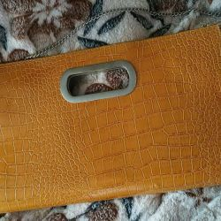 mustard color clutch