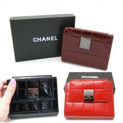 Portofel Chanel (negru, roșu, visiniu) nou