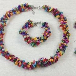 New, in packs, sets: necklace, earrings, bracelet