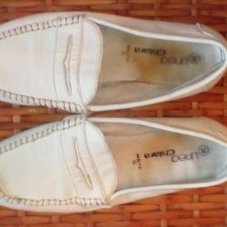 White Loafers Size 38