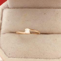 Inel de aur cu un diamant