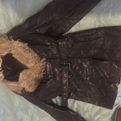 Warm leather jacket XL-XXL