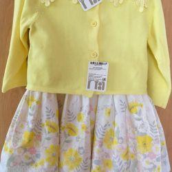 Набор от Mothercare платье трусики + кофта 74 р-р