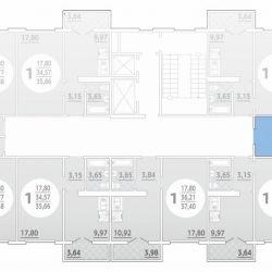 Apartment, 2 rooms, 44.8 m²