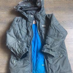 Куртка Reima 110р-р серого цвета для мальчика