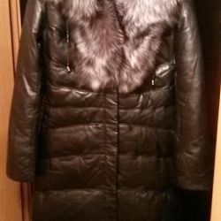 Leather coat New!