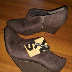 Νέες μπότες αστράγαλο, μέγεθος 39, γυναικεία παπούτσια