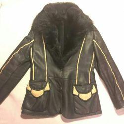 Sheepskin coat natural. Italy. P46-48