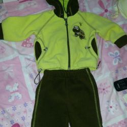 Selling fleece suit for a boy in excellent