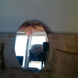 Mirror on the wall. 75 cm - 50 cm.