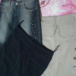 Skirt black size 40.