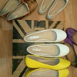 Yeni ayakkabılar p.36-37 moccasins, bale daireler, slip-ons