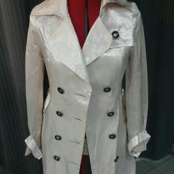 Trench (raincoat) summer satin