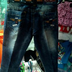 Jeans Turkey 750 rubles, for height 110-116