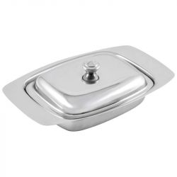 Н Stainless Steel Butter Dish