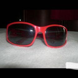 Miu Miu Red Rimmed Sunglasses / Italy