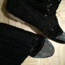 Cizme tricotate