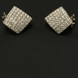 Gold earrings with cubic zirconias
