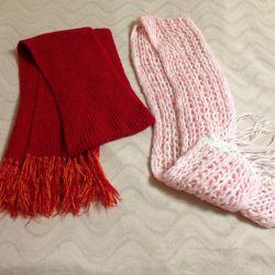 Eșarfă caldă tricotată