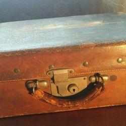 Leather vintage suitcase.