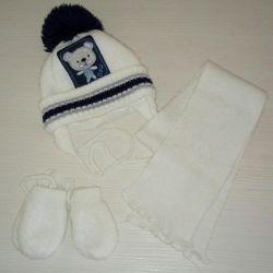 Χειμερινό σετ (καπέλο, κασκόλ, γάντια)