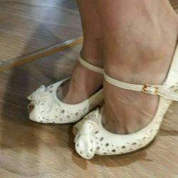 BIANCO BUCCI shoes Nat. Leather. Rr 37-38