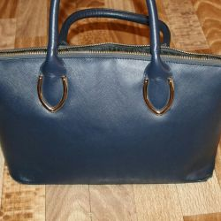 Μπλε τσάντα.