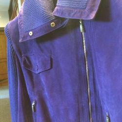 Jacket suede bright purple firm escada