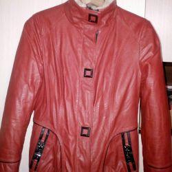Güzel ve sıcak ceket, deri