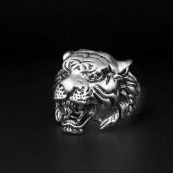 Δαχτυλίδι με τίγρη δαχτυλίδι